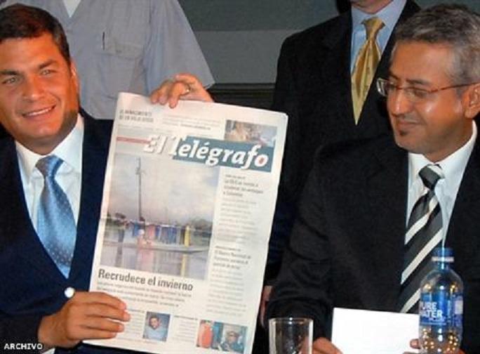 Presidente Rafael Correa y Rubén Momtoya Vega