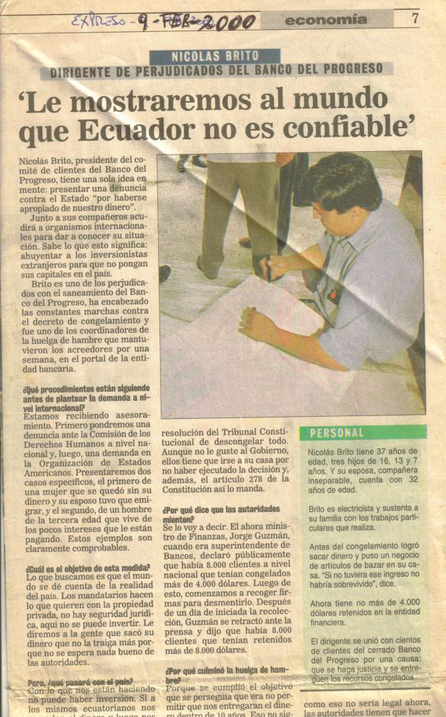 9 feb 2000 Entrevista Expreso