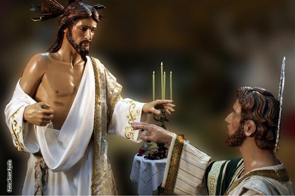 Representación del Maestro Jesús y el Apostol Tomás