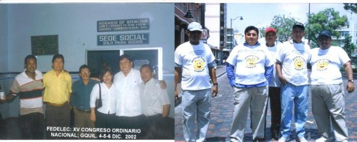 Foto de la derecha. Día del Trabajo 2004 Pedro Spencer, Pepe Vásquez