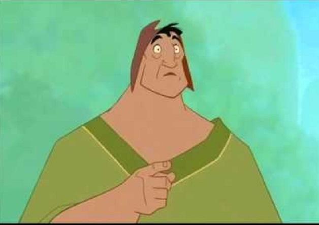 """Caricatura de la película de Disney """"Las locuras del Emperador"""""""