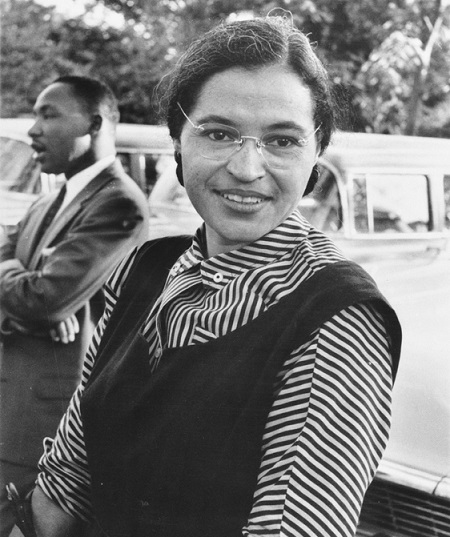 Rosa Parks y Martin Luther Kig Jr 1955