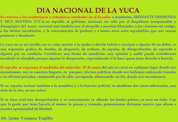 Día Nacional del Yucazo