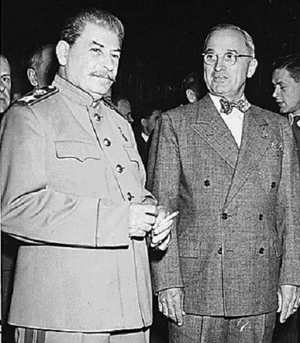 José Stalin y Harry  Truman,
