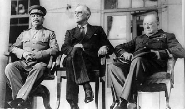 Josef Stalin, Franklin D. Roosevelt y Winston Churchill