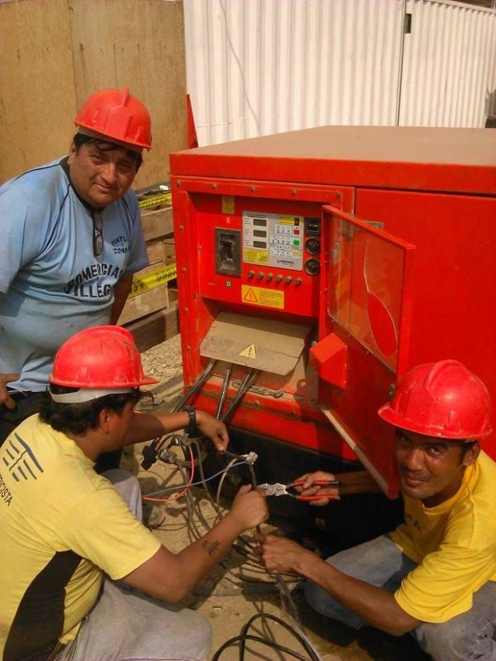 Conectando un generador en una construcción