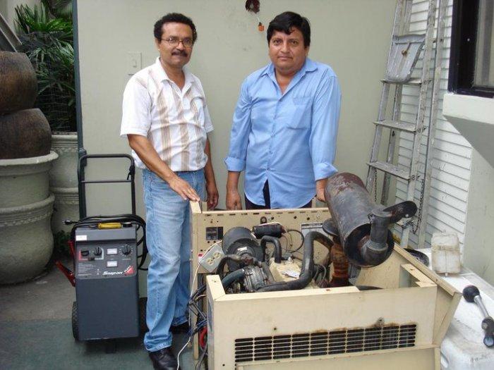 Generador a gas en un domicilio