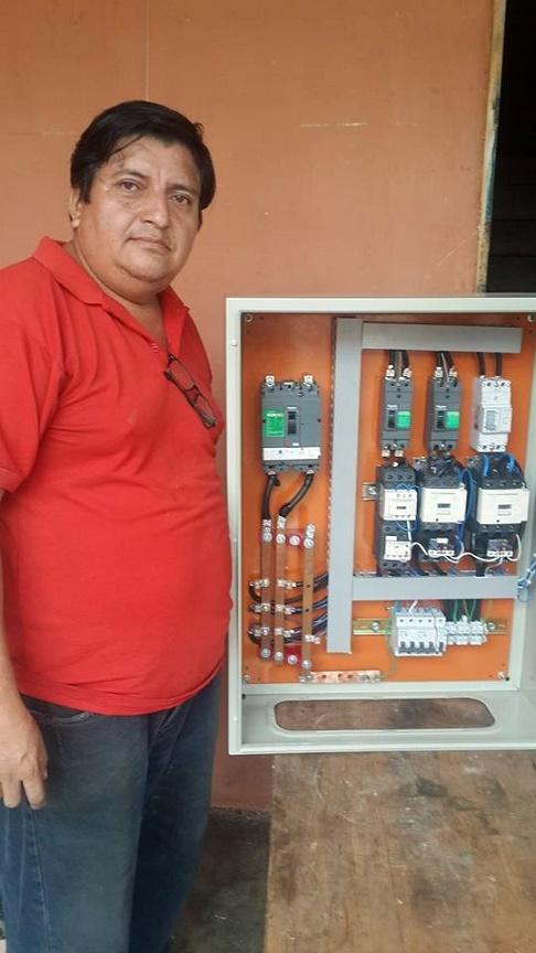 Panel de control y fuerza para motores