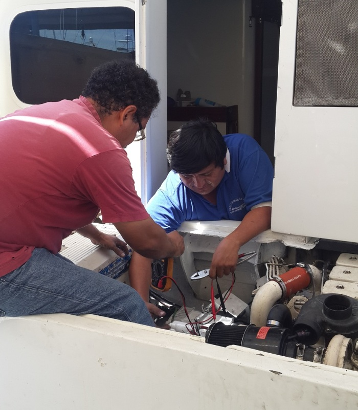 Generador en un yate