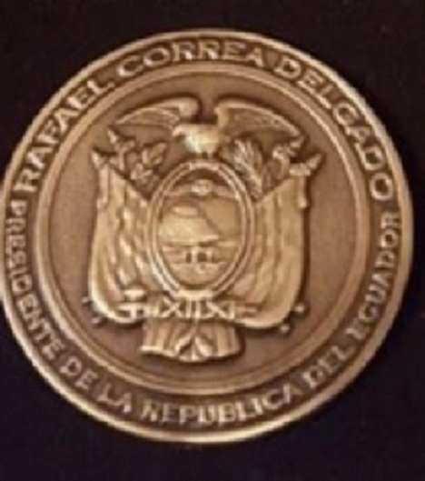 detalle de la medalla