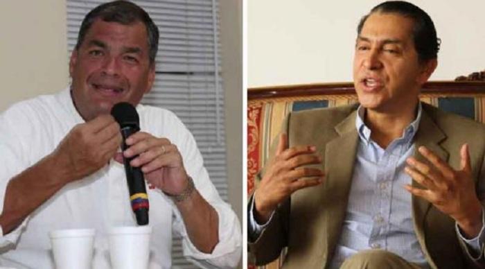 El expresidente Lucio Gutiérrez emitió una carta en la que solicita a Rafael Correa que aclare distintos temas que, a su parecer, no fueron abordados durante el Informe a la Nación 2016. Fotos: Archivo/ EL COMERCIO