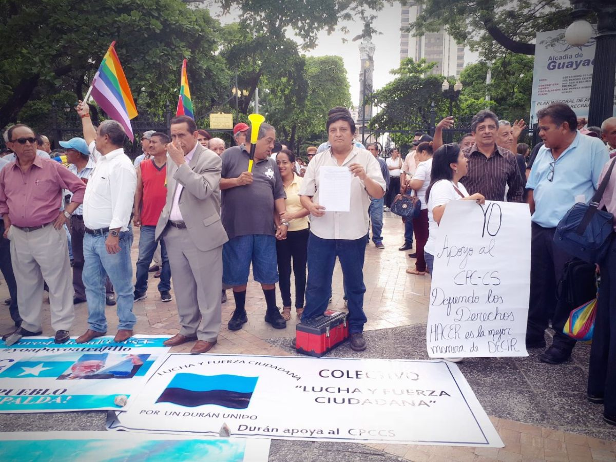 Marcha de respaldo al CPCCS